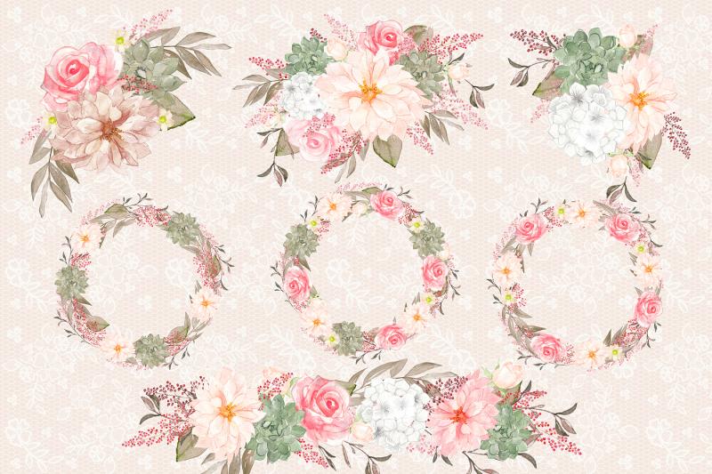 watercolor-romantic-bouquets