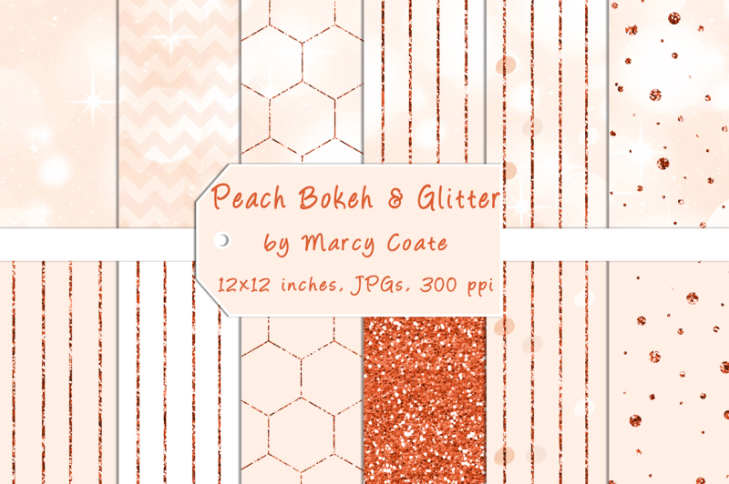 peach-bokeh-and-orange-glitter-digital-papers