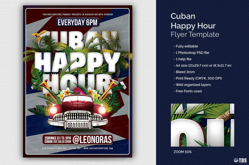 cuban-happy-hour-flyer-template