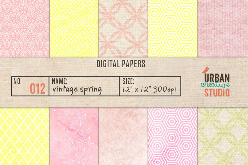 vintage-spring-digital-papers