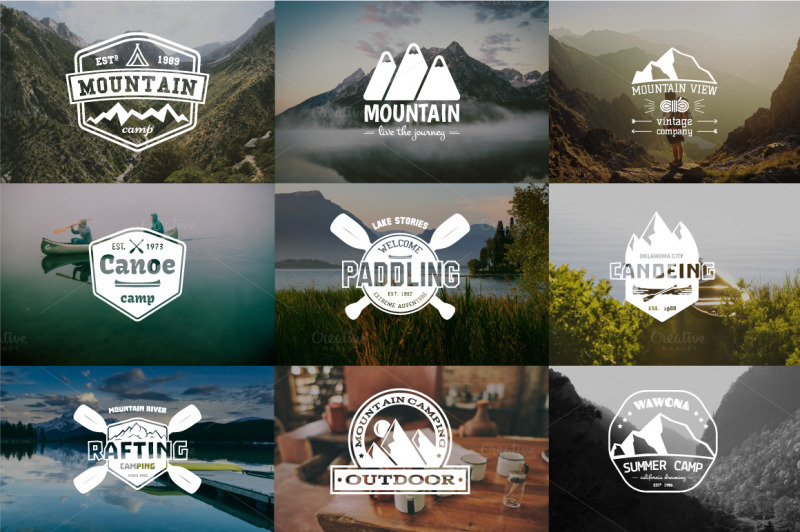 52-camping-logos-20-icons-bundle