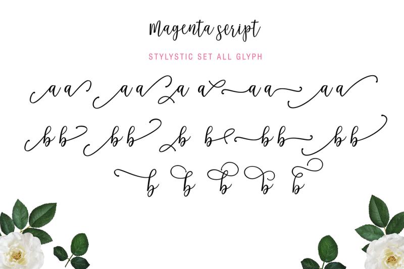 magenta-script