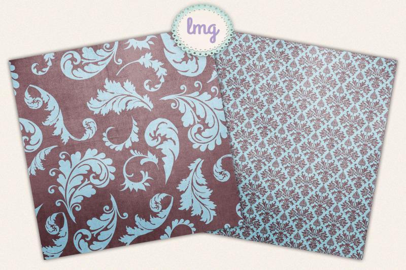 blue-and-teal-autumn-paisley-digital-scrapbook-paper