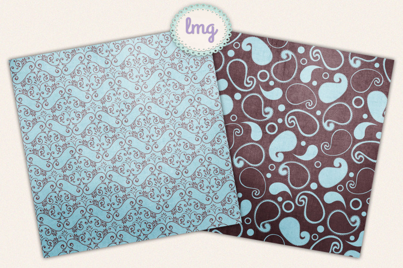 blue-and-teal-autumn-paisley-digital-scrapbook-paper