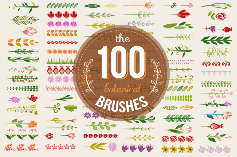 100-colorful-botanical-brushes