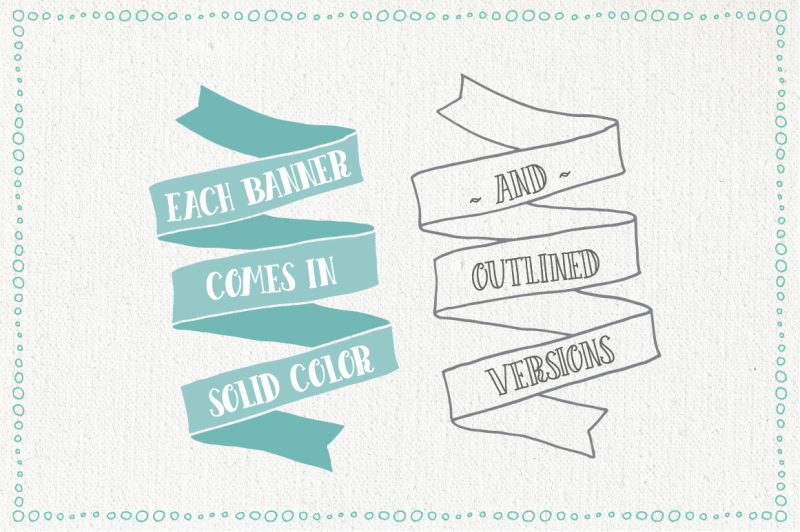 hand-drawn-banners-and-ribbons-bundle