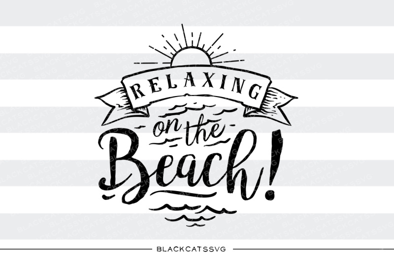 relaxing-on-the-beach-svg-file