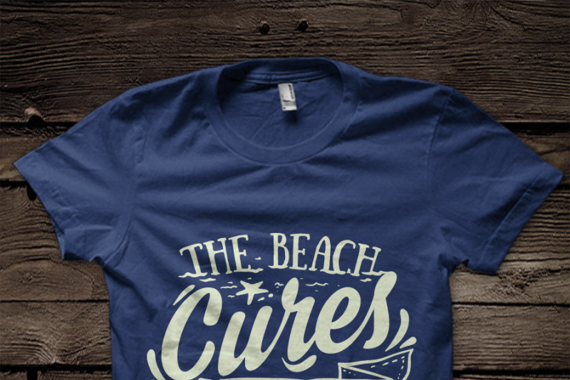 The Beach Cures All Wounds Svg File By Blackcatssvg Thehungryjpeg Com