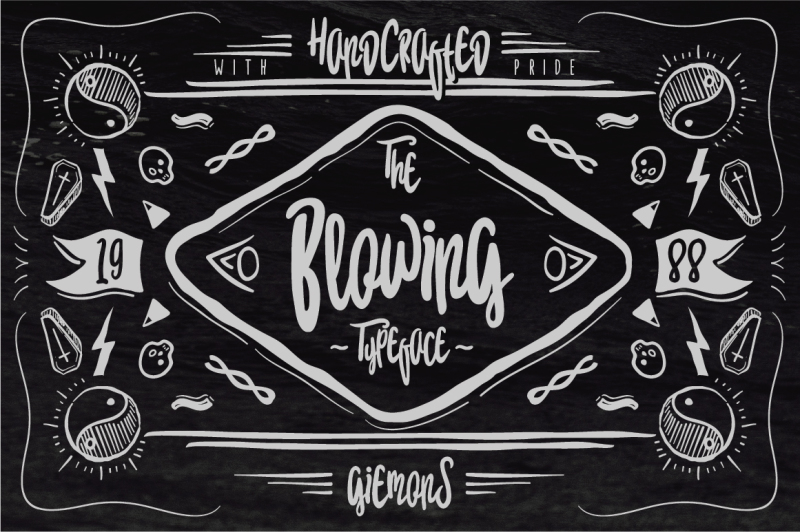 blowing-typeface