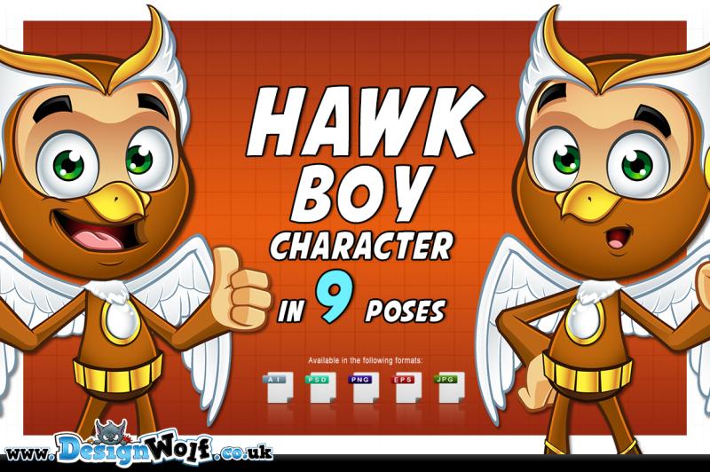 hawk-boy-in-9-poses