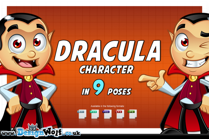 dracula-character-in-9-poses