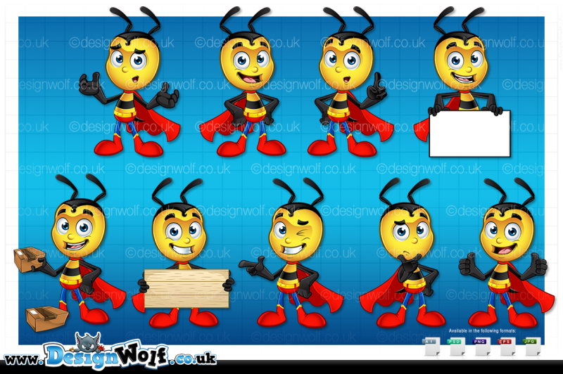 super-little-bee-in-9-poses