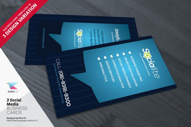 3-social-media-business-card-templates