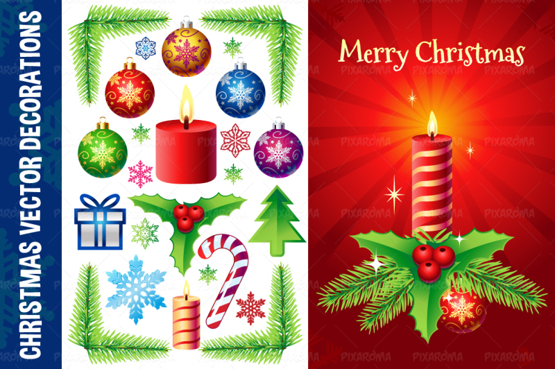christmas-vector-decorations-set