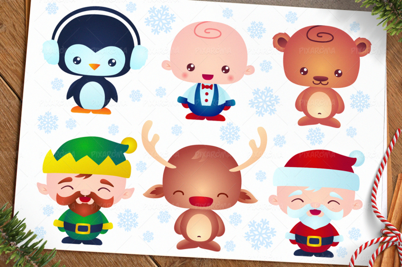 cute-christmas-baby-characters
