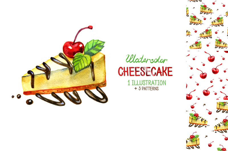 watercolor-cheesecake-illustrations