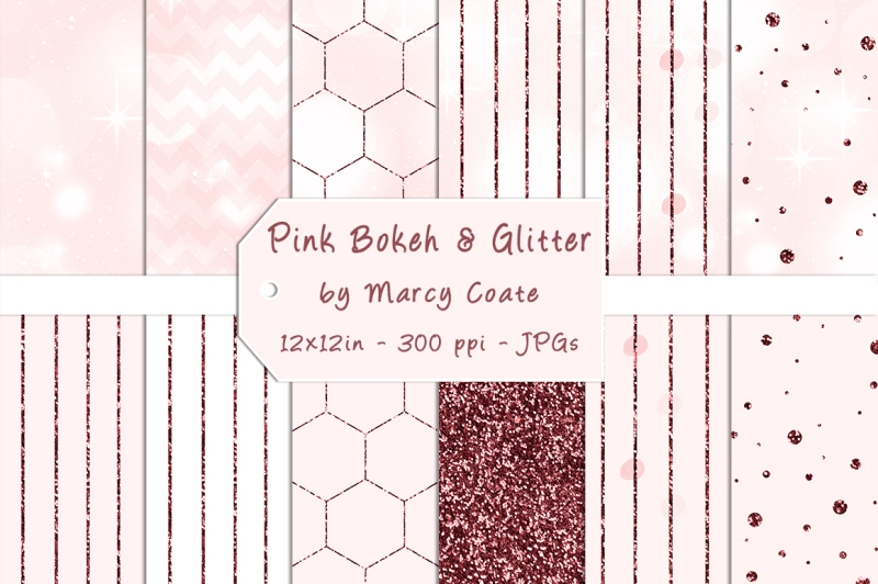 pink-bokeh-and-glitter-digital-papers