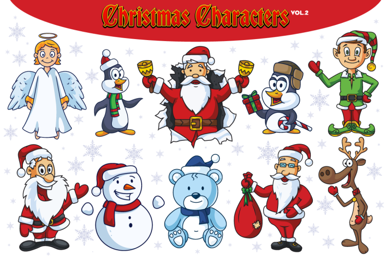 christmas-vector-characters-vol-2