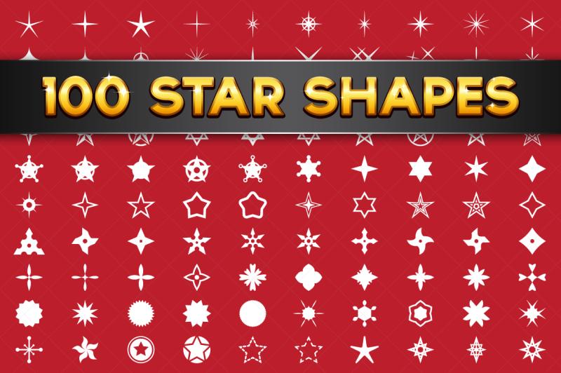 100-vector-star-shapes