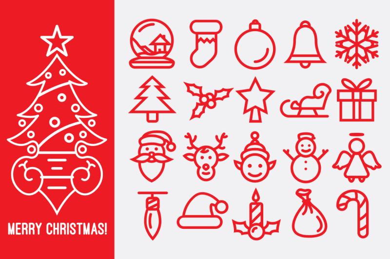 christmas-line-icons