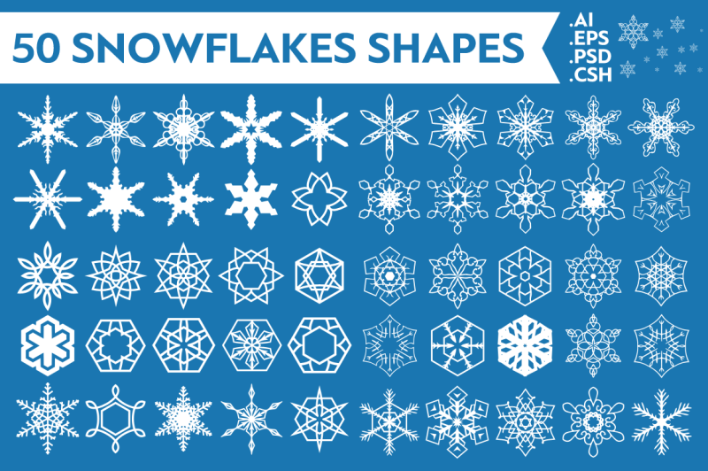 snowflakes-vector-shapes-vol-1