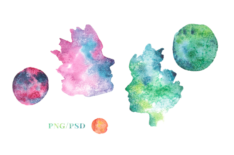 watercolor-faces-and-planets