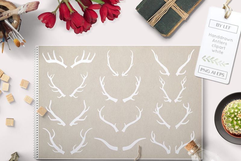 vector-antlers-and-photoshop-brushes