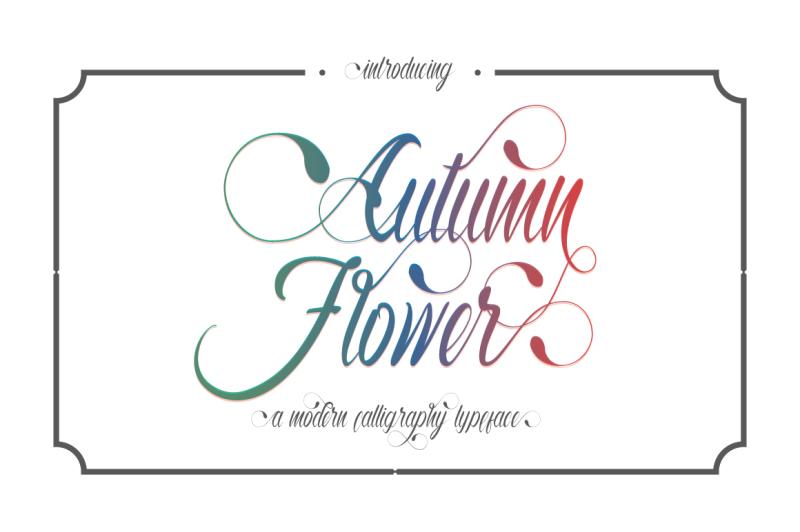 autumn-flower-script