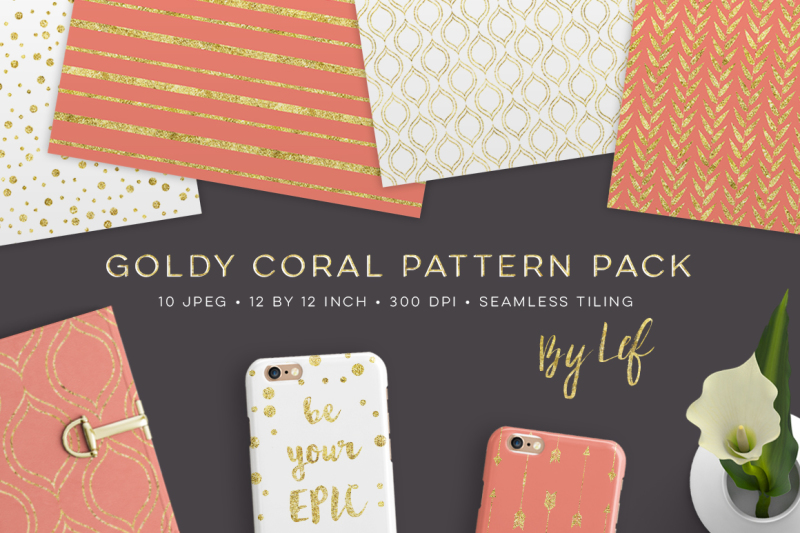 gold-and-coral-seamless-pattern-pack-digital-paper-backgrounds-repeating-patterns