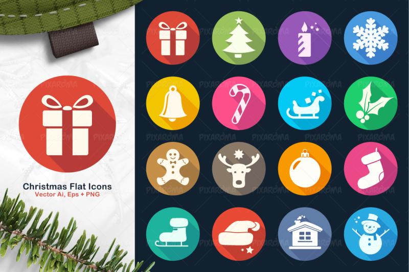 christmas-flat-icons-set-2