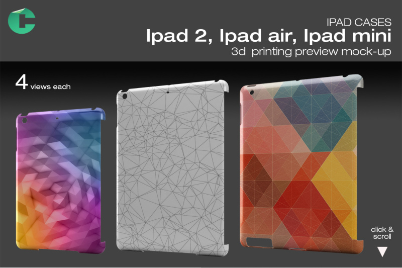 Free Ipad 2/ Air/ Mini mock-up (PSD Mockups)