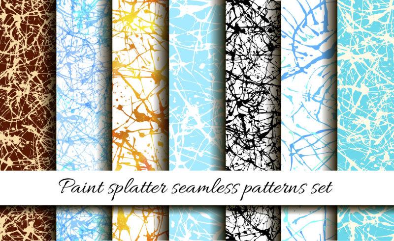 paint-splatter-seamless-pattern-set