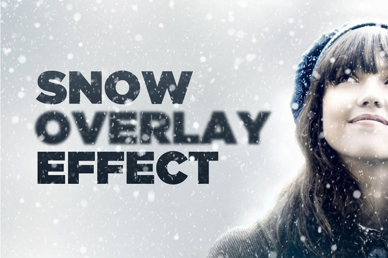 Free Snowy Day Overlay Effect for Photoshop (PSD Mockups)