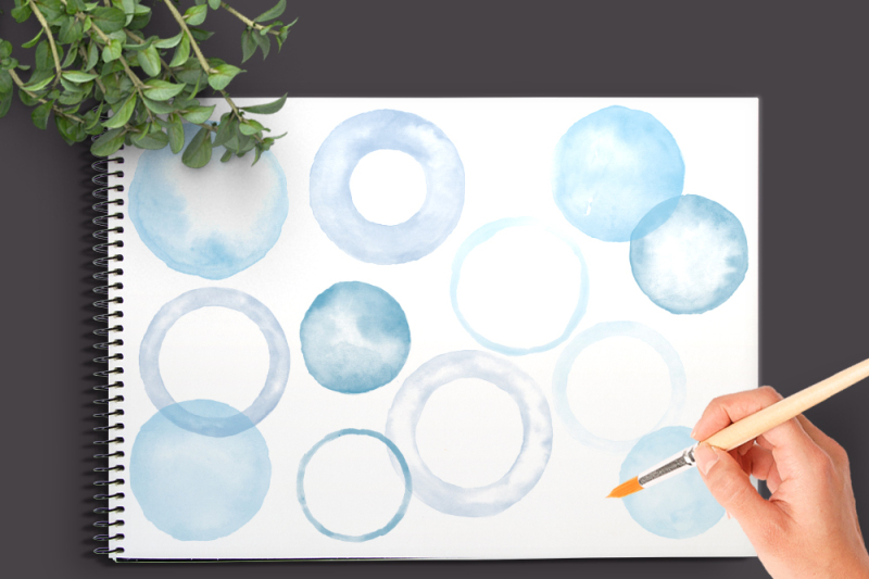 watercolor-circles-and-blobs-clipart-blue-shades-round-clip-art-for-logo-scrapbooking-and-other-projects