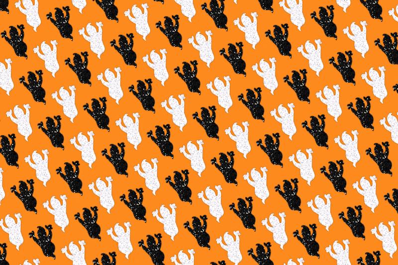 glitter-halloween-pattern-digital-background-papers