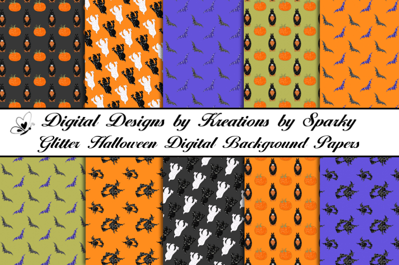 glitter-halloween-pattern-digital-background-papers