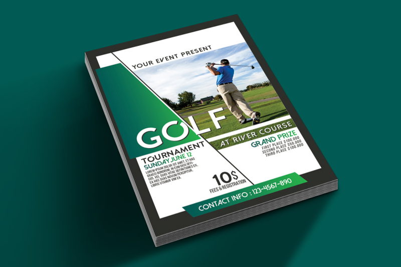 golf-tournament-flyer-tamplate