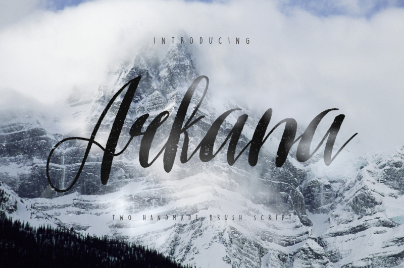 arkana-rough-typeface