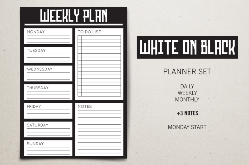 planner-set-white-on-black