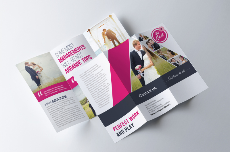 wedding-program-trifold-brochure
