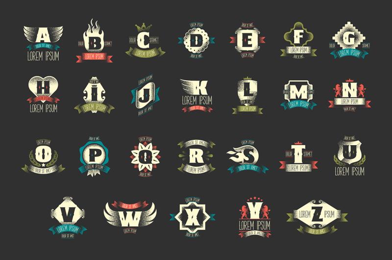 26-heraldic-logo-templates-2-fonts