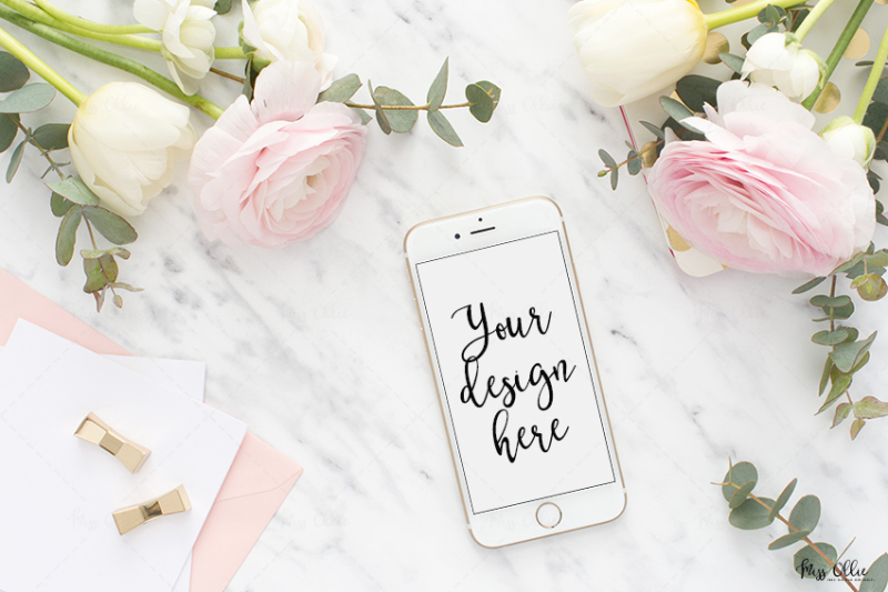Free Mobile styled stock mockup (PSD Mockups)