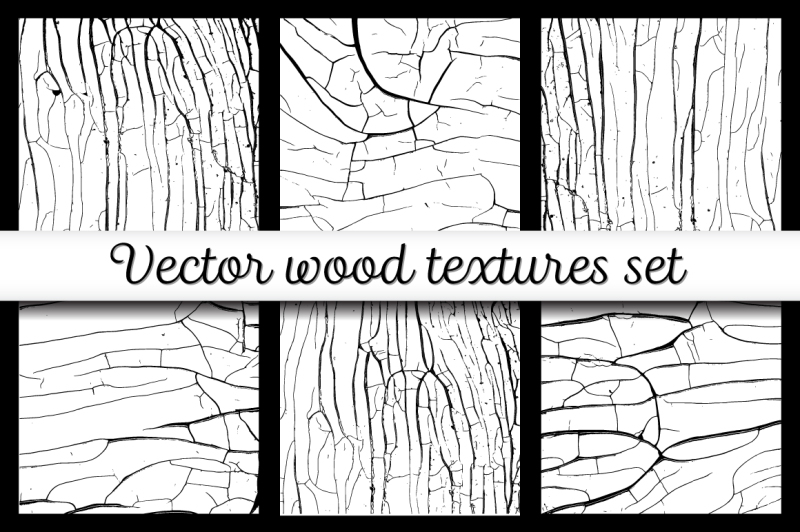 wood-cracks-textures-set