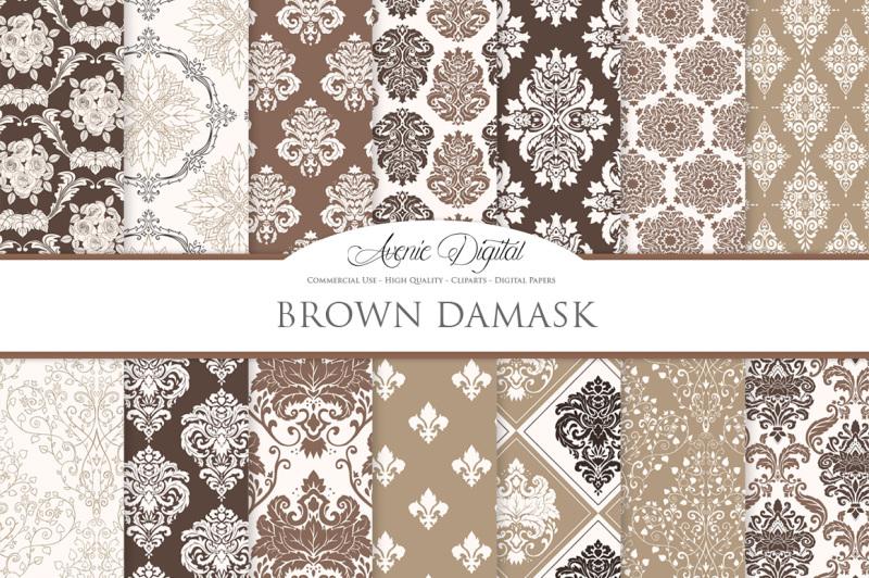 28-brown-damask-digital-papers-bundle