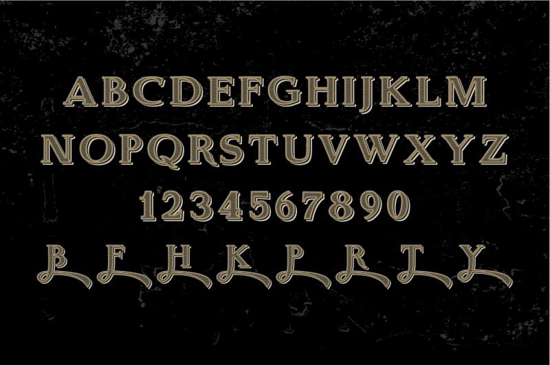 real-bourbon-vintage-vector-letters