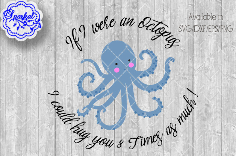 Octopus Hugs Cutting Files By Sparkal Designs Thehungryjpeg Com