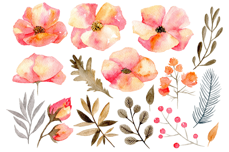 gentle-watercolor-flowers-yellow-and-pink