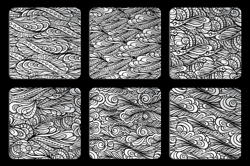 6-black-and-white-seamless-patterns