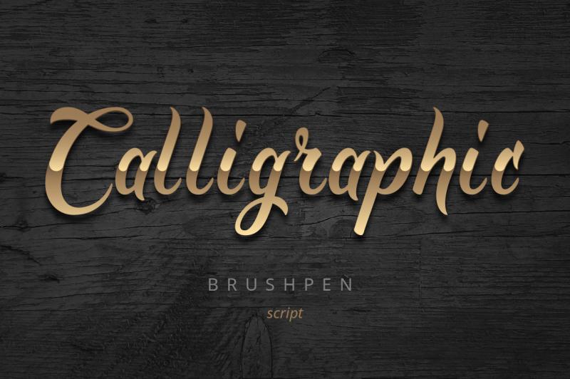 golden-brush-font