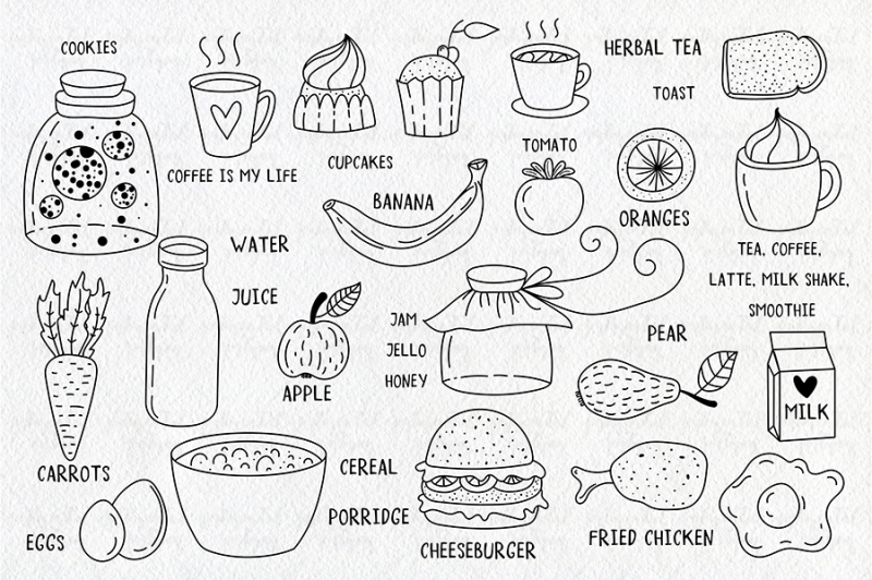 set-of-breakfast-lunch-doodles
